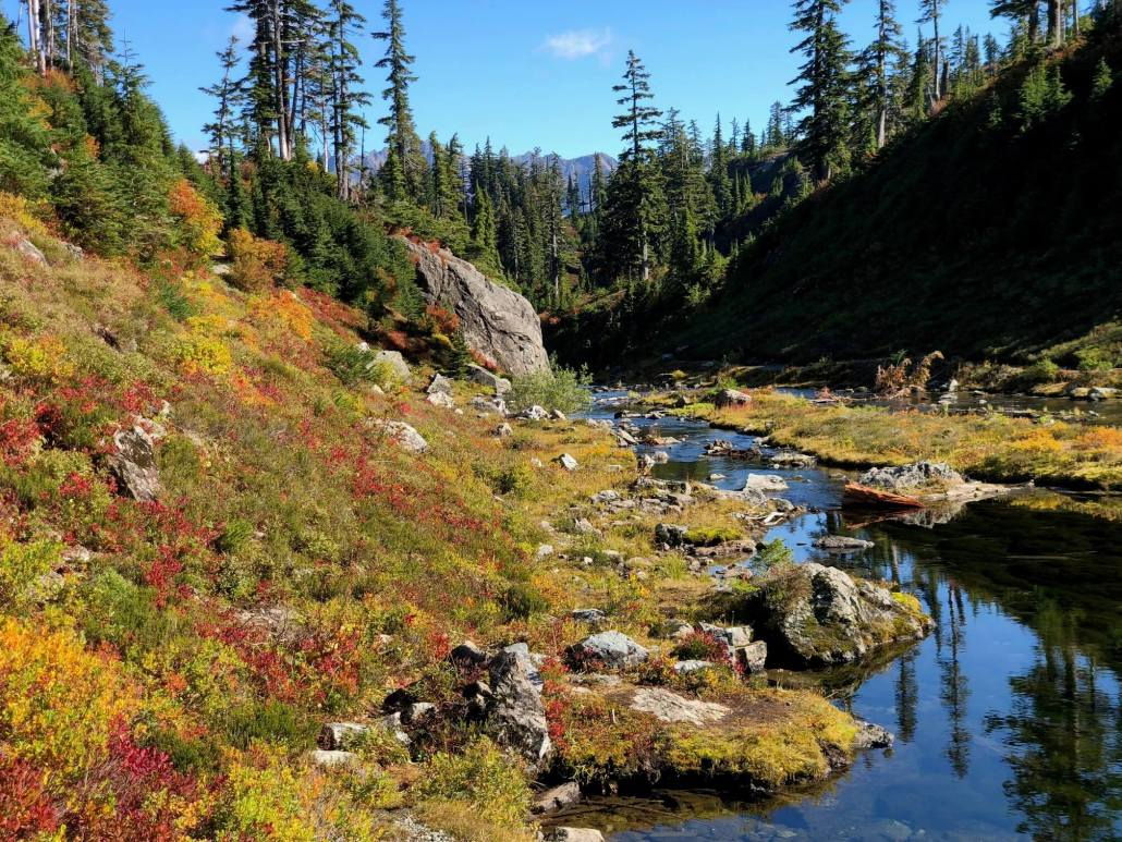 Chain Lakes Loop Trail in North Cascades
