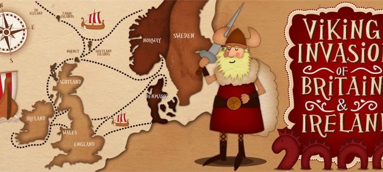 Viking Map Illustrated By Jennifer Farley