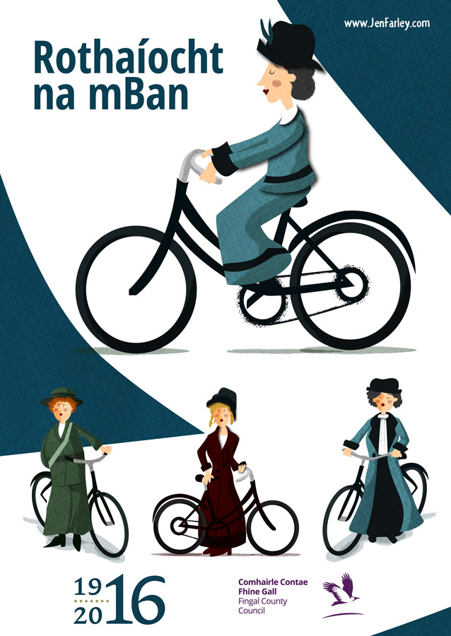1916-Rising-Poster-Women-On-Bicycles-Jen-Farley