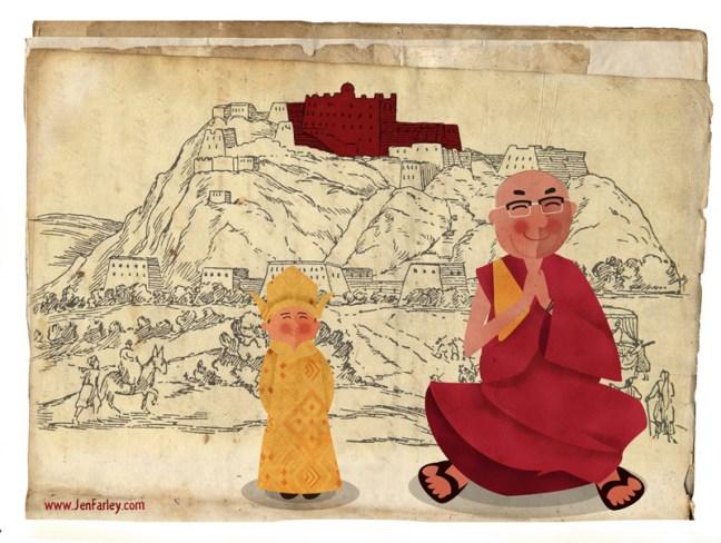 Dalai Lama illustrated by Jennifer Farley