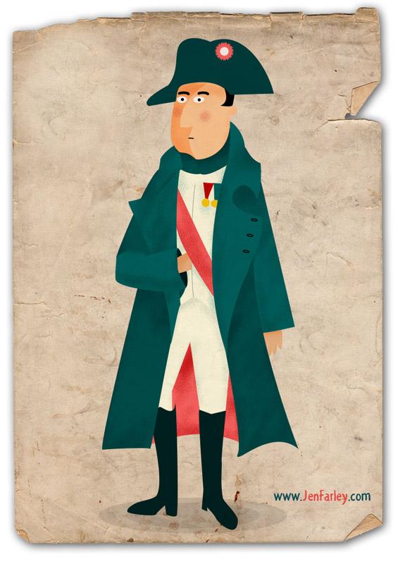 Napoleon Bonaparte illustrated by jennifer farley