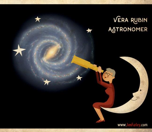 Vera Rubin Astronomer illustrated by jennifer farley
