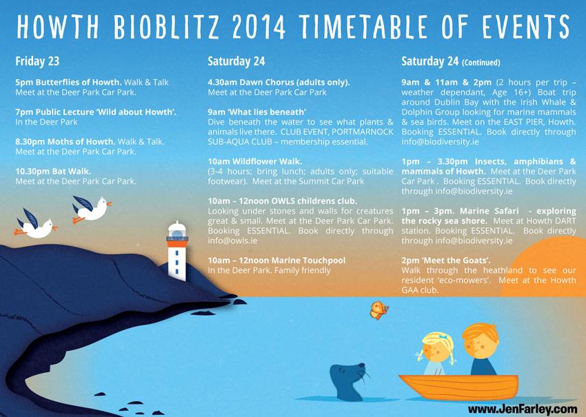 Bioblitz Trifold illustrated by Jennifer Farley