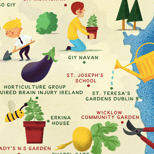 Gardening Ireland Map Thumbnail - Jennifer Farley