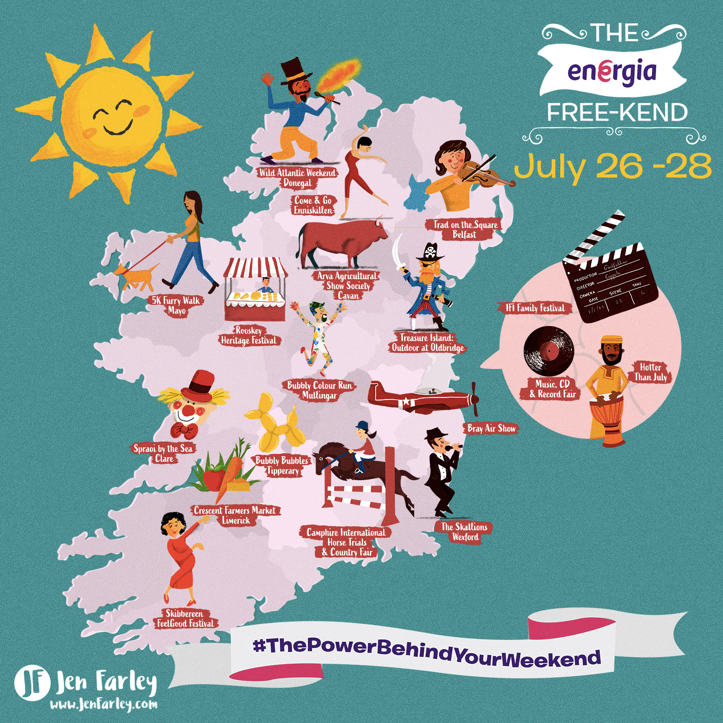 Illustrated Map Of Ireland 26 - 28 July 2019 | Jennifer ... on map of netherlands, map of european countries, map of japan, map of britain, map of british isles, map of dublin, map of skellig islands, map of denmark, map of united kingdom, map of ring of kerry, map of united states, map of prince edward island, map of eastern hemisphere, map of yugoslavia, map of northeast us, map of sweden, map of scotland, map of london, map of hong kong, map of philippines,