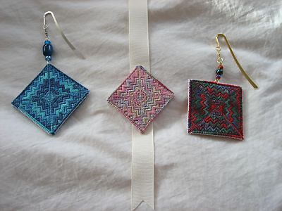 Stitching for Literacy, Super Mo's orphaned needlepoint turned bookmarks