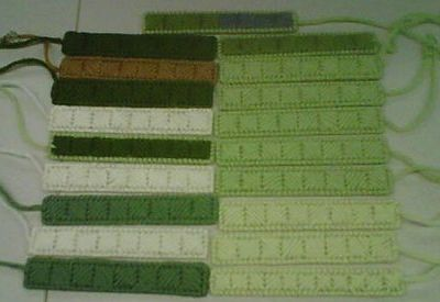 Stitching for Literacy, some of Mare's bookmarks