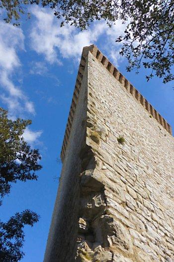 The triangular tower at Castiglione del Lago.