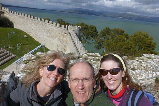 At the top of Castiglione del Lago