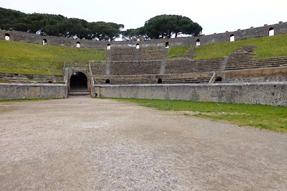 Pompeii Amphitheater Inside