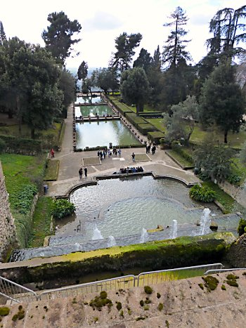 Part of the garden at Villa d'Este