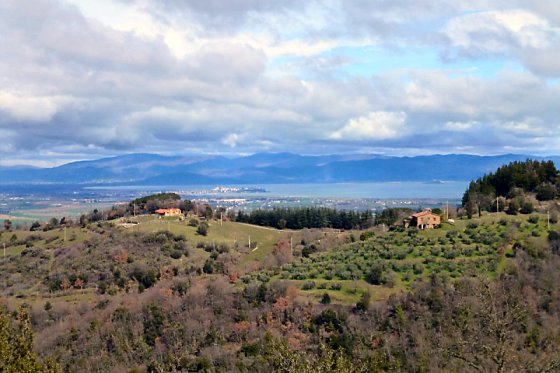 Lake Trasimeno from our Miralaghi house