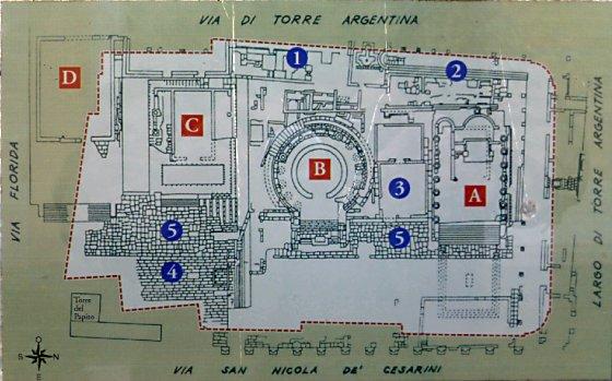A blueprint of Area Sacra di Largo Argentina
