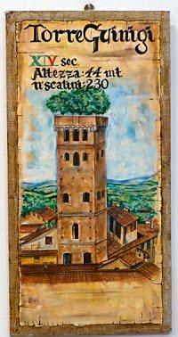 A painting of Torre dei Guinigi in Lucca