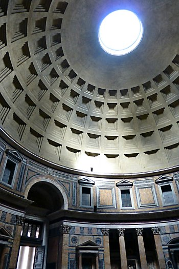 The ceiling of the Pantheon.