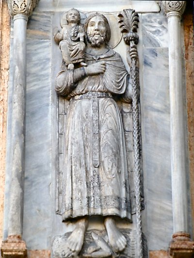 Carving of St. Christopher from the Basilica of St. Mark