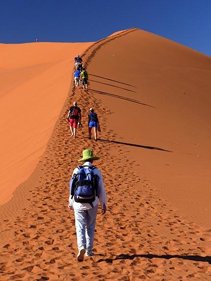 Climbing Big Daddy, Namib-Naukluft National Park