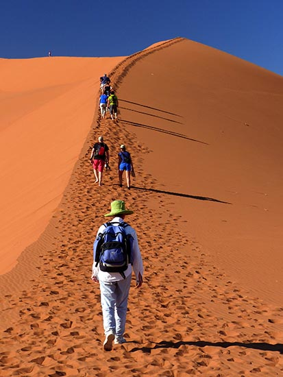 Climbing Big Daddy, Namib-Naukluft National Park