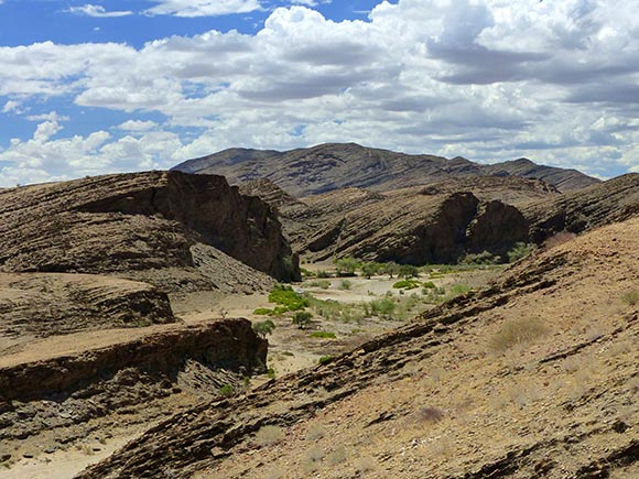 Slightly green valley in the mountains, Namib-Naukluft