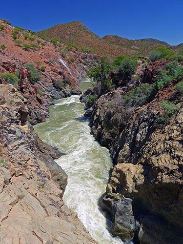The canyon below Epupa Falls.