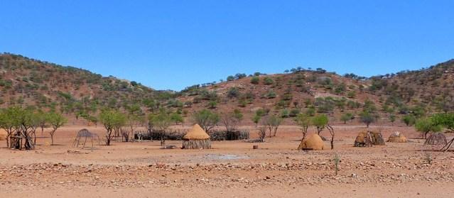 Huts on the way to Epupa Falls, Namibia