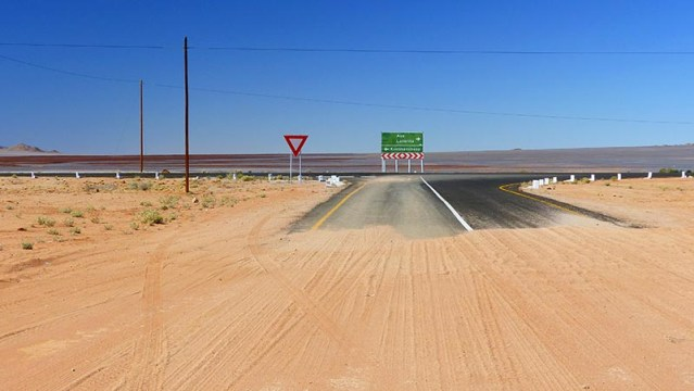 Onto Pavement, Namibia