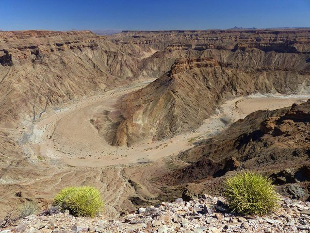 Fish River Canyon, dry riverbed, Namibia