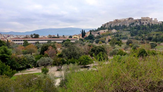 The Agora, with the Stoa in the distance - Jen Funk Weber