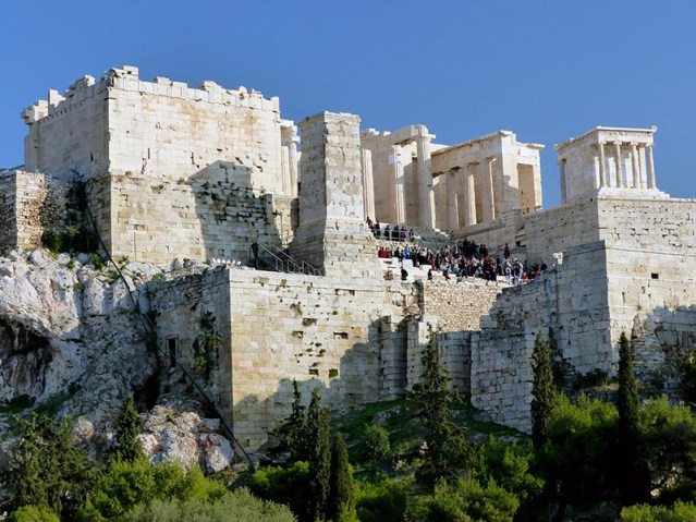 Acropolis from the Areopagus - Jen Funk Weber