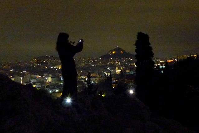 Silhouette on Areopagus Rock, Athens - Jen Funk Weber