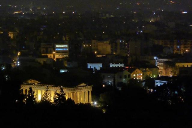 Temple of Hephaestus at Night - Jen Funk Weber