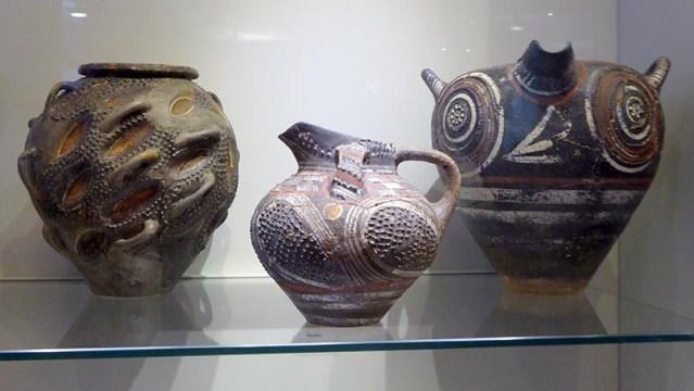 Clay pots, Heraklion Museum, Crete, Greece - Jen Funk Weber