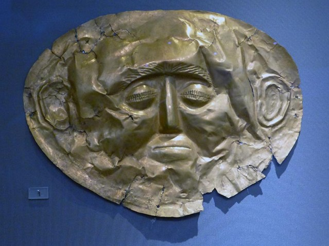 Mycenaean Funeral Mask 2, National Archaeological Museum, Athens
