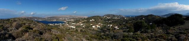 Panorama of Dhrymonas and Ghorna, Leros, Greece - Jen Funk Weber