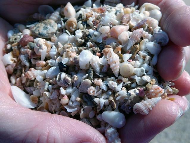 Shell sand, Elafonisi Beach, Crete - Jen Funk Weber