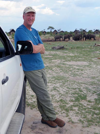 Mike at Elephant Sands, Botswana