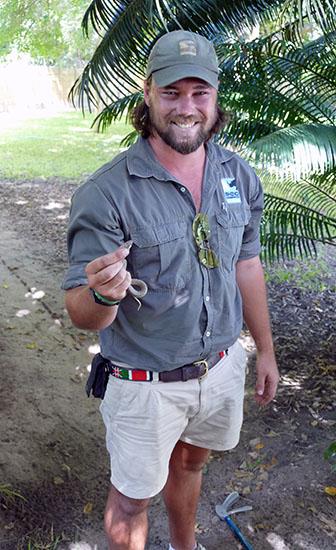 Mark Flatt with young cape cobra