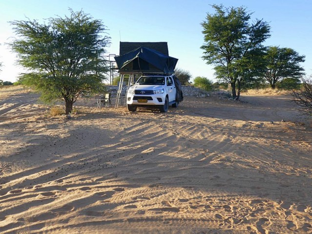 Where the lions passed in front of the truck - Kgalagadi Transfrontier Park, photo by Mike Weber