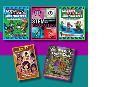 Activity books, comic book, and picture book written by Jen Funk Weber