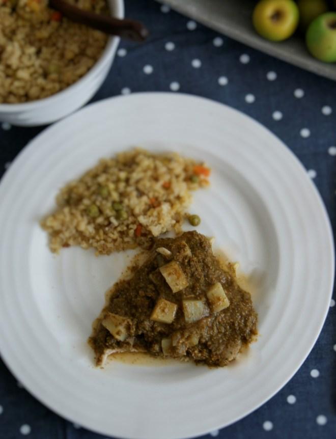 Huachinango en salsa de huauzontles