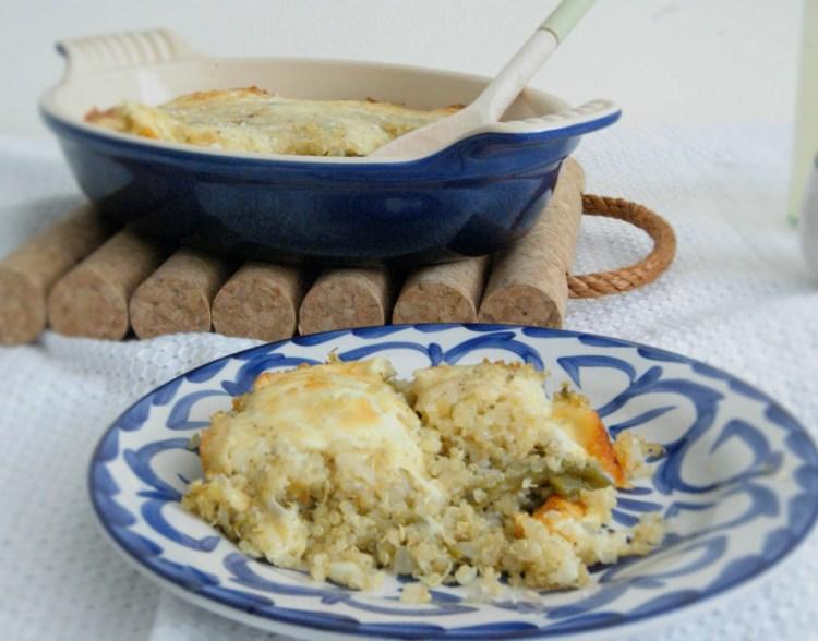 Quinoa al horno con poblano