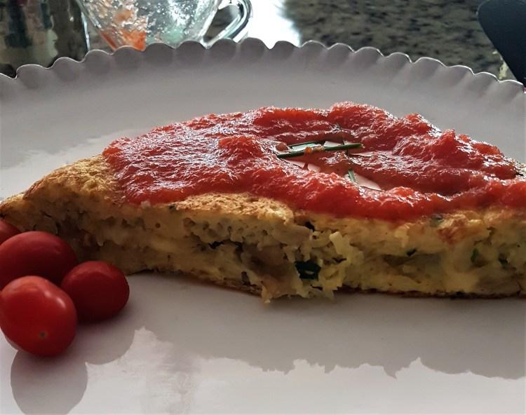 Omelette de papa  queso