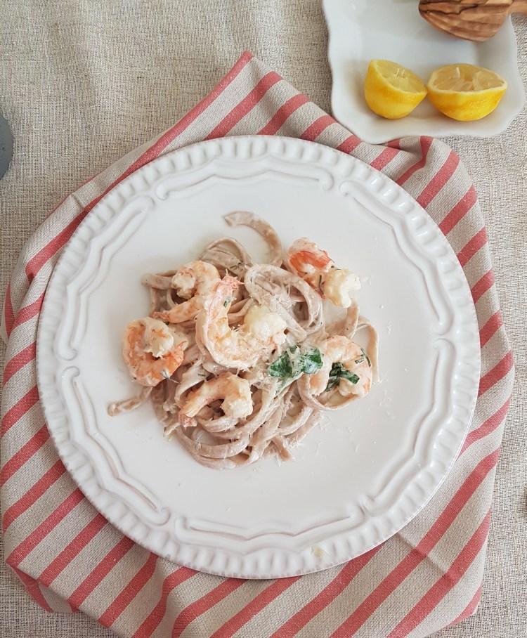 Linguini con camarones al limón 2