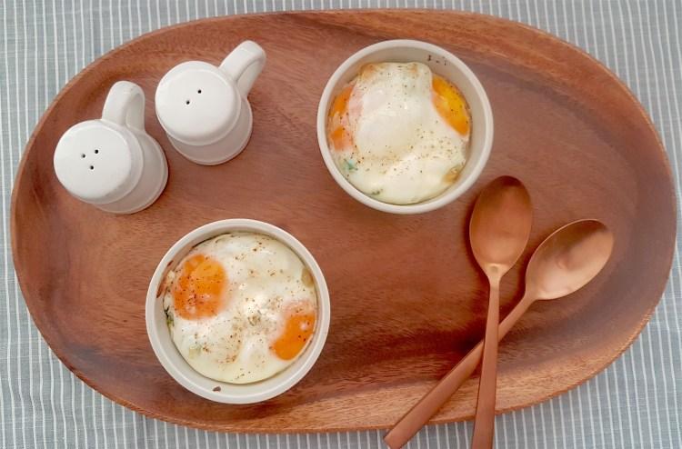 Huevos horneados con ricota 2