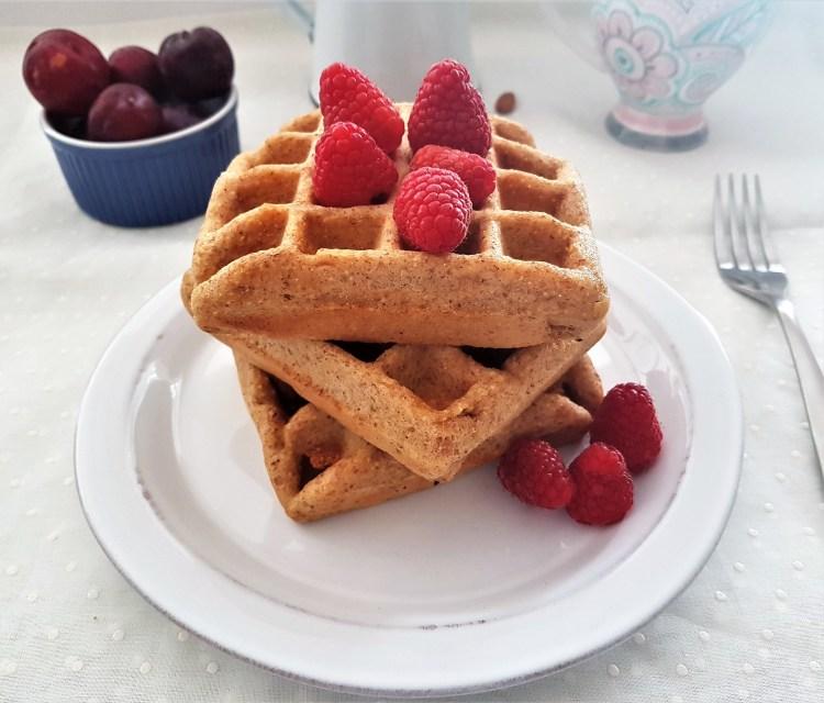 Waffles de almendra, maíz y limón (2)