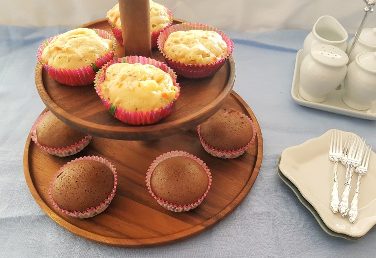 Muffins al vapor de dos sabores