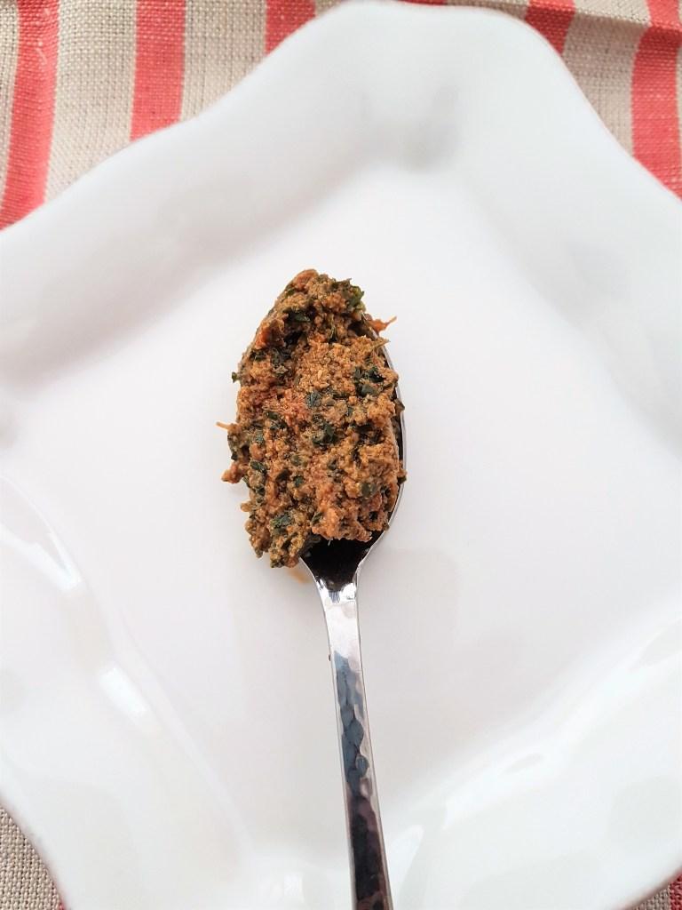 Pestos de jitomate deshidratado