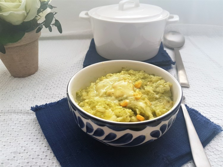 Arroz verde de coliflor