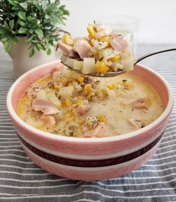 Sopa de salmón
