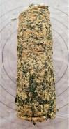 Rollo de espinaca, queso crema y salmón